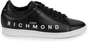 John Richmond Logo Leather Sneakers