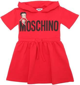 Moschino Betty Boop Hooded Cotton Sweat Dress
