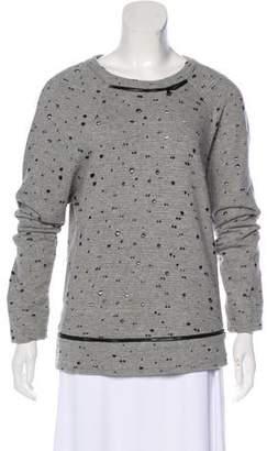 Robert Rodriguez Distressed Long Sleeve Sweater