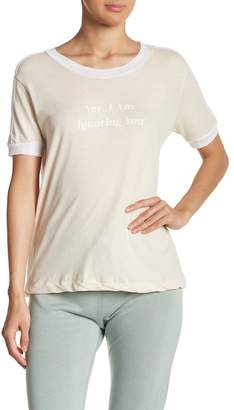 Wildfox Couture I'm Ignoring You Short Sleeve Graphic Tee