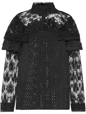 Anna Sui Ruffled Lace Blouse