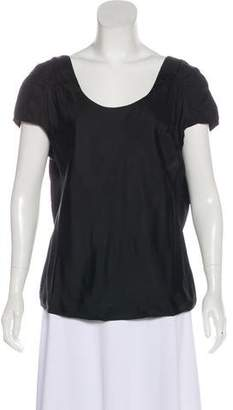 Twelfth Street By Cynthia Vincent Draped Back Short Sleeve Top