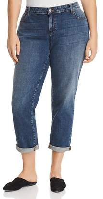 Eileen Fisher Plus Boyfriend Jeans in Sky Blue