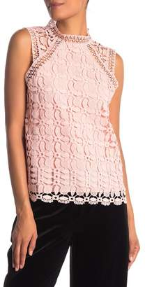 Laundry by Shelli Segal Venice Lace Mock Neck Top