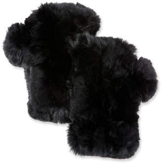 Surell Fingerless Fur Mittens