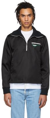 Prada Black Nylon Half-Zip Jacket