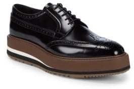 Prada Platform Leather Brogues