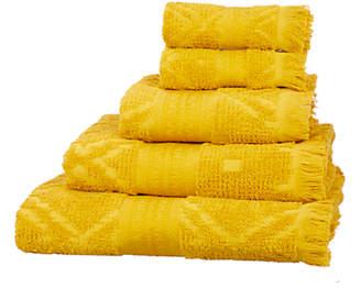 John Lewis Fusion Mahal Carved Cotton Towels, Saffron