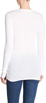Michael Stars Scoop Neck Long Sleeve Basic Tunic