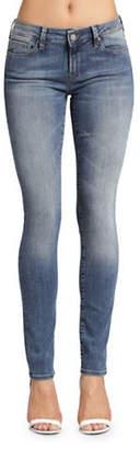 Mavi Jeans Adriana Faded Mid-Rise Super Skinny Jeans