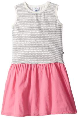 Toobydoo Nautical Stripe Tank Dress w/ Contrast Pink Skirt Girl's Dress