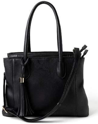 francesca's Gina Large Structured Satchel - Black