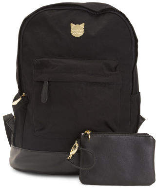 Canvas Large Cat Ear Backpack