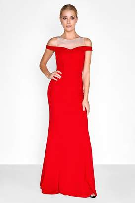 Outlet Little Mistress Red Maxi Dress