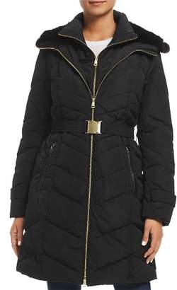 Cole Haan Faux Fur-Lined Hood Puffer Coat