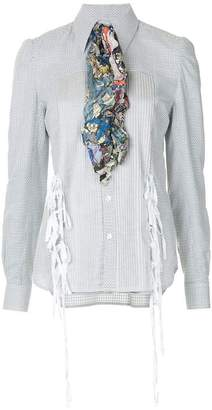 Facetasm contrast scarf shirt