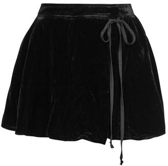 Free People Dance The Night Away Velvet Shorts