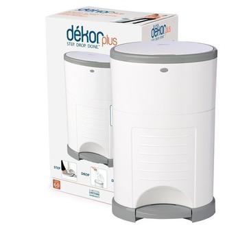 Dekor Diaper Disposal Bin Plus White
