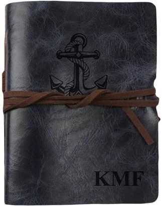 "MonogramOnline Anchor Custom Genuine Leather Antique Wrap Journal, 5 3/4"" x 4 1/2"""