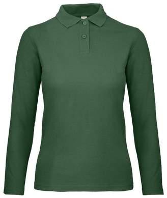 BC B C ID.001 Womens Ladies Long Sleeve Polo ... 97aa3f48b6