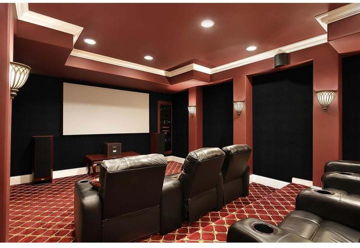 Foss QuietWall 108 sq. ft. Ivory Acoustical Noise Control Textile Wall Covering and Home Theater Acoustic Sound Proofing