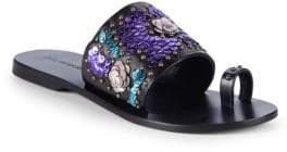 Saks Fifth Avenue Leather Embellished Sandals