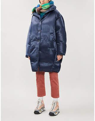 Acne Studios Funnel-neck satin-down coat