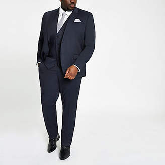River Island Big and Tall navy suit pants