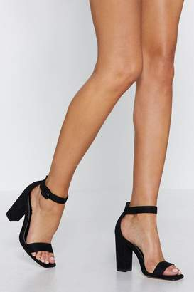 Nasty Gal What a Square Toe Heel