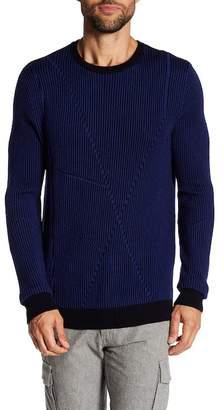 Quinn Striped Crew Neck Wool Sweater