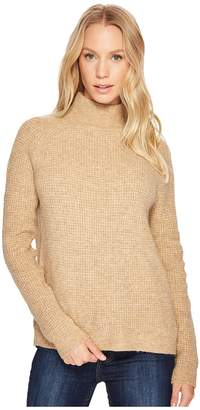 Blank NYC Slit On Back Camel Turtleneck in Atomic Tan Women's Sweater