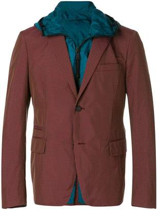 Prada micro checked nylon blazer