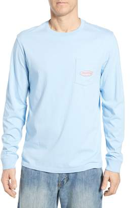 Vineyard Vines Surf Logo Long Sleeve Pocket T-Shirt
