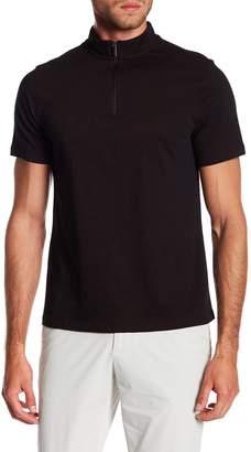 Perry Ellis Quarter Zip Short Sleeve Polo