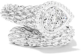 Boucheron Serpent Bohème 18-karat White Gold Diamond Ring - 52