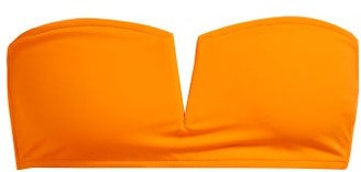 Talia Collins - The Strapless Bandeau Bikini Top - Womens - Orange