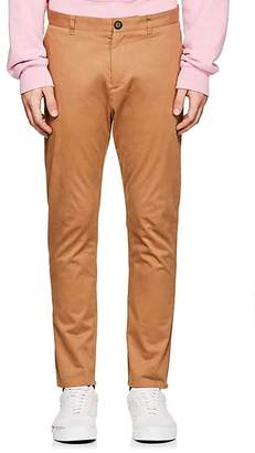 Barneys New York Men's Grosgrain-Accented Stretch-Cotton Trousers