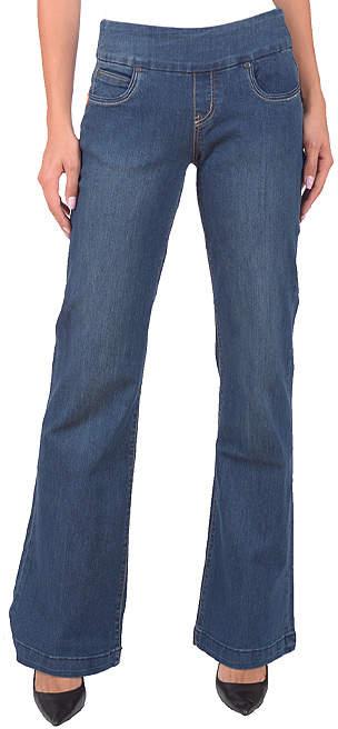 Medium Stone Blue Kati Mae Wide-Leg Jeans - Women