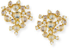 Paul Morelli Moonstone & White Diamond Bubble Cluster Earrings