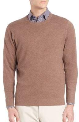 Saks Fifth Avenue COLLECTION Silk& Cashmere Crewneck Sweater