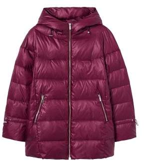 Violeta BY MANGO Quilted feather coat