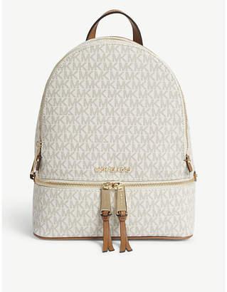 MICHAEL Michael Kors Michael Kors Cream Rhea Leather Backpack