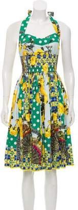 Dolce & Gabbana Sleeveless Floral Dress w/ Tags