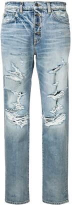 Amiri distressed effect jeans