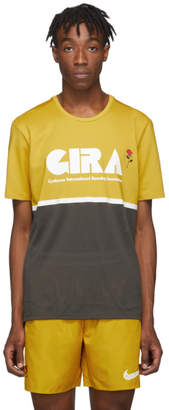Nike Yellow and Grey Gyakusou Dri-Fit T-Shirt