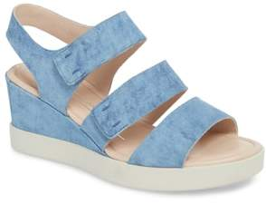 Ecco Shape Plateau Wedge Sandal