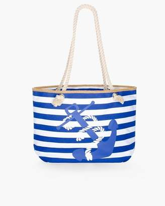 Chico's Striped Anchor Beach Tote