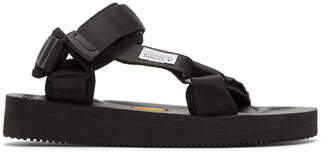 Suicoke Black Depa-V Sandals