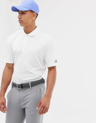 adidas Bold Logo Polo In White