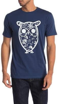 Knowledge Cotton Apparel Owl Concept Graphic Tee
